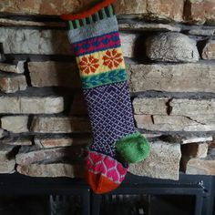 "Hand Knit Christmas Stocking for the ""girly girl""!!!"