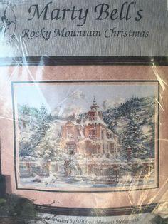 Rocky Mountain Christmas Cross Stitch Kit by Marty Bell Pegasus Publication  | eBay