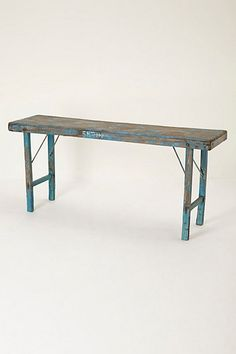 Console table shallow hallway use antique fruit wood for Shallow coffee table