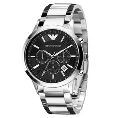 Emporio Armani Ar2434 Chronograph Stainless Steel Mens Watch