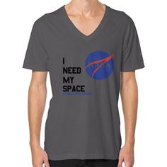 I Need My Space (Nasa) V-Neck (on man)