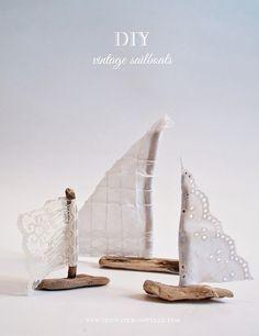 Cute #DIY vintage nautical sailboat.