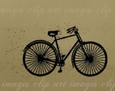 Bicycle Clip Art, Bike, Dirty, Grungy, Royalty Free Use Included, Digital Download Graphics for your designs and craft sales, Commercial Use