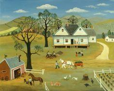 Chores On The Farm by Konstantin Rodko