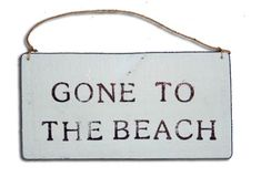 Gone to the Beach Driftwood Sign***Research for possible future project.