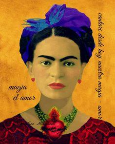 Frida Kahlo Art Print Amore Love Sacred Heart by ARTDECADENCE