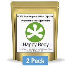Organic Sulfur Crystals - 99.9% Pure MSM, Premium MSM Supplement. Natural MSM Crystals - Best Quality and Absorption. (2 Pound Pack) ** Very Fast Shipping Avg 3 - 5 Days. ** *** You can find out more details at the link of the image.