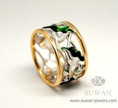 Baw Collection  Baw Ring, Fine silver Enamel and gold plated Technique. more design : www.suwan-jewelry.com