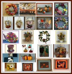 Looking for some fall decorating ideas? Check out my 23 different free how-to's and tutorials for making fall home decorations. I have wreaths, quilts, ornaments, pictures, silk floral and dried natural floral arrangements, terra-cotta pots, wool felt mug rugs, mini-quilts, needle felted sunflowers, embroidered leaf garlands, embroidered leaves, and cloth pumpkins....... Fall Crafts, Decor Crafts, Arts And Crafts, Fall Decorating, Decorating Your Home, Embroidered Leaves, Leaf Garland, Love Is Free, Mini Quilts