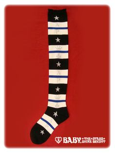 Brand: AatP; Name: Marine Border sock; Color: Black/Navy/White; Size: N/A; Year: 2012