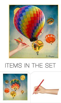 """Balloons"" by deborah-strozier ❤ liked on Polyvore featuring art and modern"