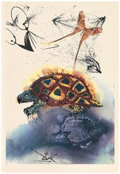 """In 1969 Salvador Dali produced illustrations for Lewis Carroll's """"Alice In Wonderland"""". That was news to me but I dug around and found them: """"Alice In Wonderland"""" & Salvador Dali. Makes perfect sense really. Lewis Carroll, Salvador Dali Kunst, Alice In Wonderland Illustrations, Colossal Art, Adventures In Wonderland, Artsy, Mock Turtle, Rabbit Hole, Rabbit Duck"""