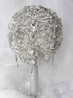Full brooch bouquet Jewelry Crafts, Victorian, Brooch, Ceiling Lights, Sparkles, Bouquets, Silver, Gold, Wedding