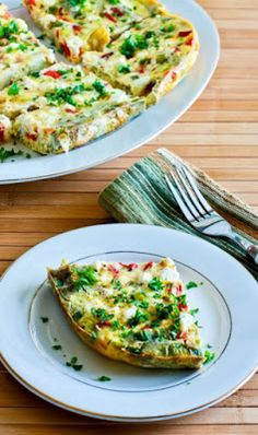 Slow Cooker Frittata with Artichoke Hearts, Roasted Peppers, and Feta Shared on http://www.facebook.com/LowCarbZen/