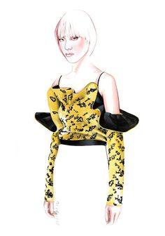 DIOR Fall Winter 2016 fashion illustration by António Soares