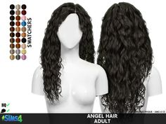 Coupure Electrique: Angel hair retextured - Sims 4 Hairs - http://sims4hairs.com/coupure-electrique-angel-hair-retextured/