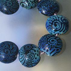 Magic Frost - Handmade Lampwork Beads Set (SRA)