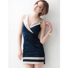 Tank V-Neck Blue One Size Sexy Cotton Dress@A8035 ($18) via Polyvore