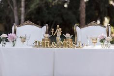 Sweet heart wedding table - William Innes Photography