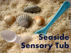seaside sensory tub