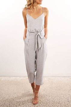 beb749262fd Little Miss Jumpsuit Grey Work Jumpsuits