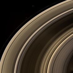 Saturn's rings and moons