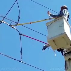 Electricity from cut power line