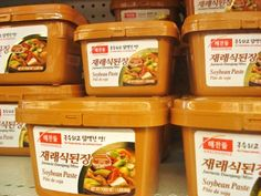 "Soybean paste (Doenjang)-s is my favorite brand, ""Haechandul"" soy bean paste. However, you can use other brand names such as Wang or Soon Chang."