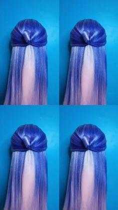 Hairstyle Tutorial 569 - vicky - Haare und Make-up Little Girl Hairstyles, Braided Hairstyles, Hair Upstyles, Bridesmaid Hair, Hair Videos, Hair Designs, Hair Hacks, Dyed Hair, Short Hair Styles