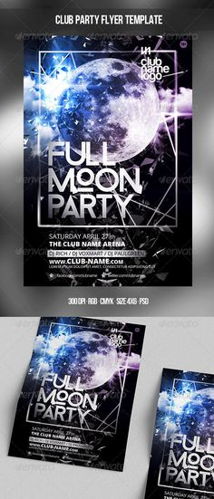 Full Moon Party Template