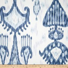 Ikat Curtain Curtains drapery curtain panels Window curtains window treatments drapery panels custom drapery Robert Allen Khandar Blue White : 25 Pair of rod Curtains drapery panels designer by HomeandHome Blue And White Curtains, Colorful Curtains, Ikat Fabric, Drapery Fabric, Wall Fabric, Fabric Wallpaper, Blue Fabric, Ikat Pillows, Toss Pillows