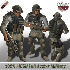 Second Life Marketplace - Bestla - Mesh Full Avatar Military | Wish it listed what this actually includes. Proceed with caution.