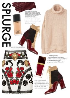 """""""The splurge"""" by alisijaa ❤ liked on Polyvore featuring Dolce&Gabbana, MANGO, Laurence Dacade, Tom Ford, Mark & Graham and MAC Cosmetics"""
