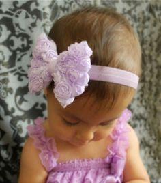 Super cute White Rosiebow headband