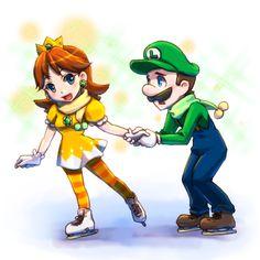 Princesa Daisy, Luigi And Daisy, Nintendo Sega, Super Mario Bros, Girls, Cute, Fictional Characters, Kawaii Drawings, Videogames
