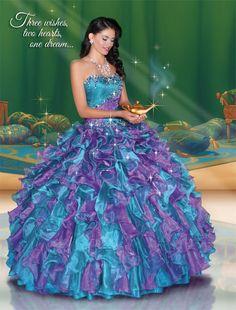 Quinceanera Dresses by Disney Royal Ball - Jasmine 41045