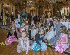 Princess Madeleine held a party for 'Min Stora Dag'  The Swedish Aquamarine Kokoshnik Tiara. https://se.pinterest.com/lovebooksabove/the-swedish-aquamarine-kokoshnik-tiara/
