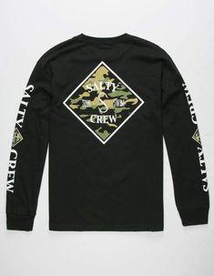 58bf873e3d619 SALTY CREW Tippet Camo Mens T-Shirt - BLACK - 306947100