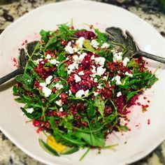 "Quinoa, Beet, and Arugula Salad I ""This was sooo delicious!! Healthy, and perfect! I love it."""
