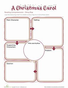 A Christmas Carol: Story Map Worksheet