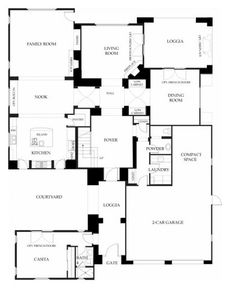 Santorini at Windemere by Brookfield Homes - Residence Three - Floor Plan - First Floor - Robert Hidey Architects