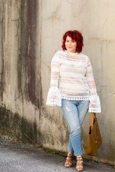 Crochet Lace Blouse & Link Up