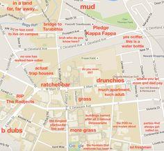 University of Delaware: http://theblacksheeponline.com/delaware/the-judgmental-map-of-ud