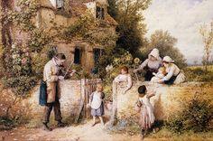 Myles Birket Foster, 1860, The Itinerant Fiddler