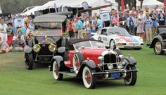 An Auburn Speedster waits with other award winners to drive up to the Amelia Island Concours podium | Bob Golfen photos