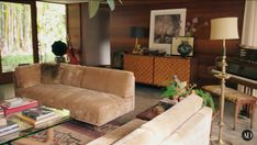 Living Room Designs, Living Spaces, Johnson House, Interior Architecture, Interior Design, Retro Room, Lounge, Mid Century House, Architectural Digest