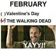 February and the walking dead