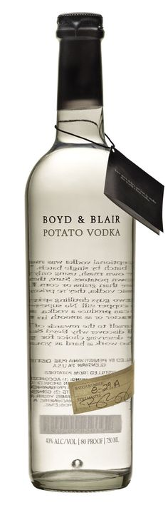 Boyd&Blair vodka  #boyd&blair #vodka #bottle
