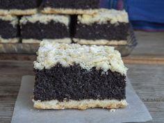 Hungarian Desserts, Poppy Cake, My Recipes, Favorite Recipes, Cake Bars, Tiramisu, Cheesecake, Food And Drink, Sweets