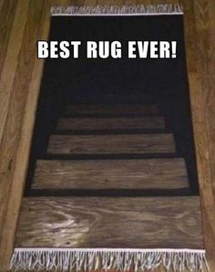 That Would Get Me Everytime... funny memes dark meme stairs creative prank rug